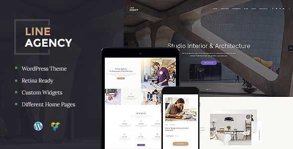 Line Agency WordPress Theme free download