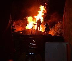Valley Village Fire Contained to Detached Garage