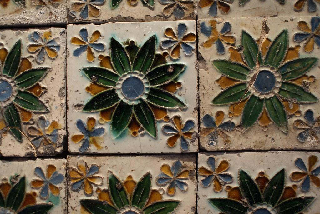 Azulejos du musée de la sculpture Sant'Agostino à Gênes
