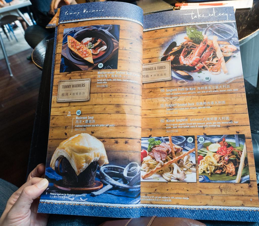 Spaghetti and soup menu