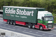 Volvo FH 6x2 Tractor - PX61 BJU - Lucy Rebecca - Eddie Stobart - M1 J10 Luton - Steven Gray - IMG_9818