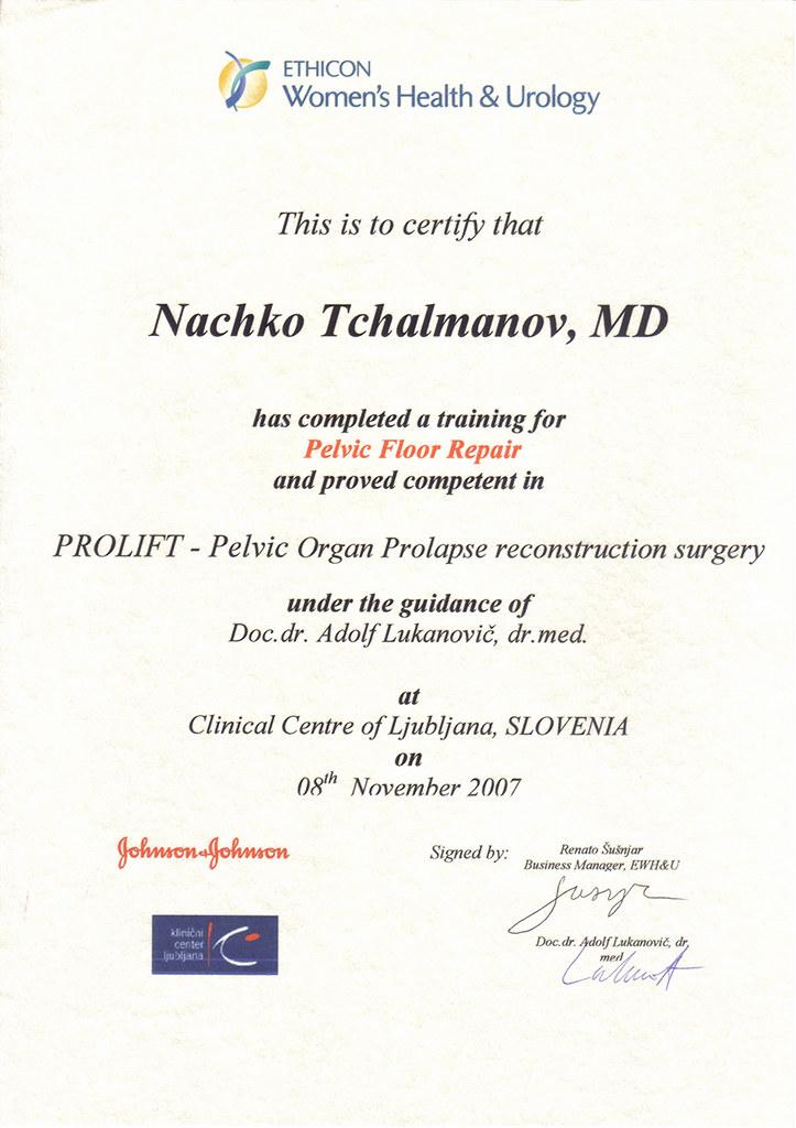 prolift-certificate