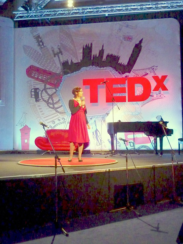 On stage of TEDx