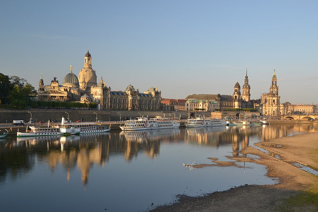 Early morning view of Dresden