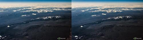 panorama usa snow ice clouds airplane stereoscopic 3d crosseyed horizon rockymountains stereopair crossview 2013 crossviewstereopair