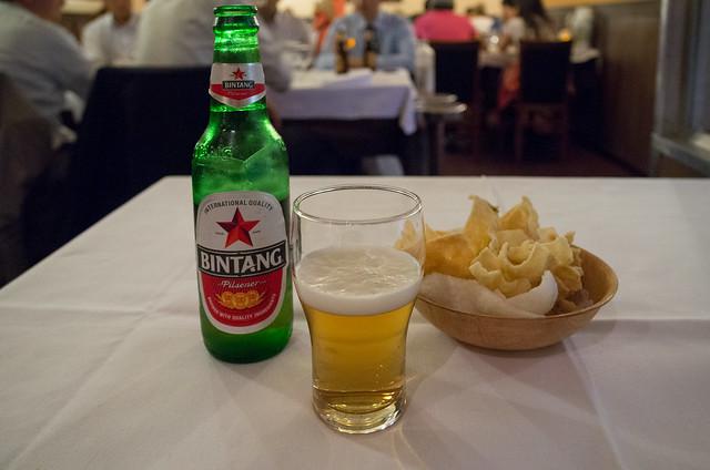 Puri Mas ビンタンビールとクルプック
