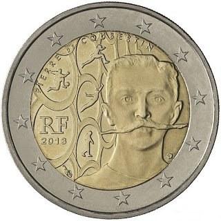 *2 Euro Francúzsko 2013, Pierre de Coubertin