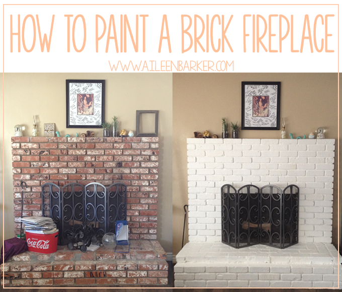 How to Paint a Brick Fireplace - Life by Aileen