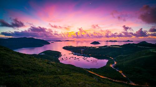 sunrise hongkong dawn clearwaterbay saikung potoio 布袋澳 田下山