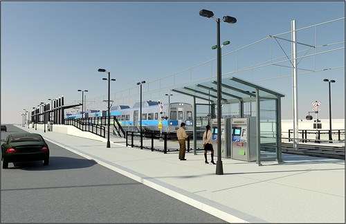 Artistic rendering of Central Park Station passenger platform area