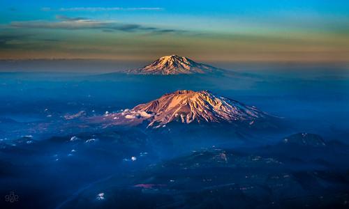 blue landscape washington twilight unitedstates bluehour mtsthelens goldenhour kelso aeriallandscape