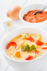 Thai soup Tom Kha Gai