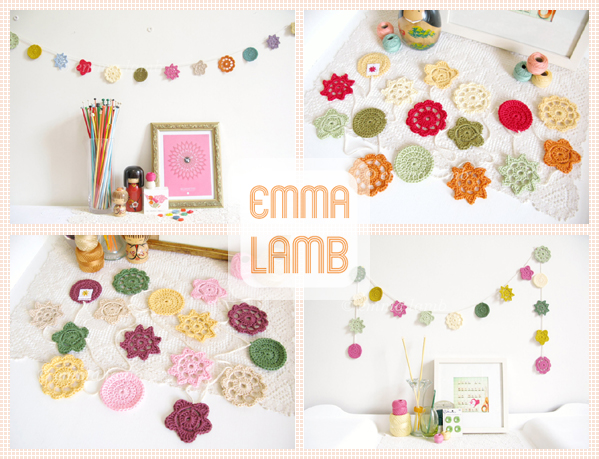 When they're gone, they're gone! I'm retiring these four colour combinations of Forever Flower Garland colour combinations, find them exclusively in my Etsy shop. | Emma Lamb