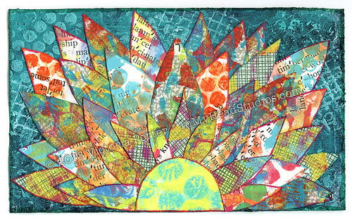 """Layered Gelli™ Printed Petals"" ICAD : 7-1-13"