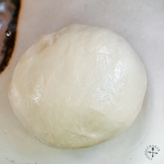 knead into a dough and let rise