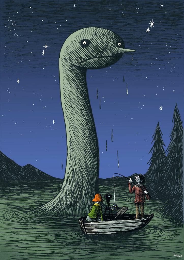 Uetsuji Shotaro - Lake monster and bogus UFO