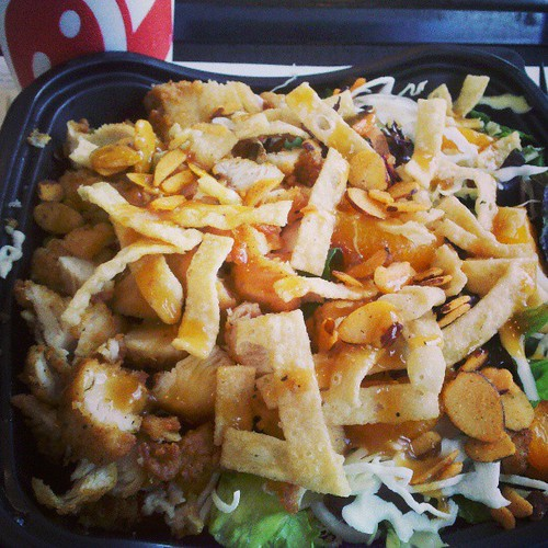 Finally trying one of @chickfila's new salads