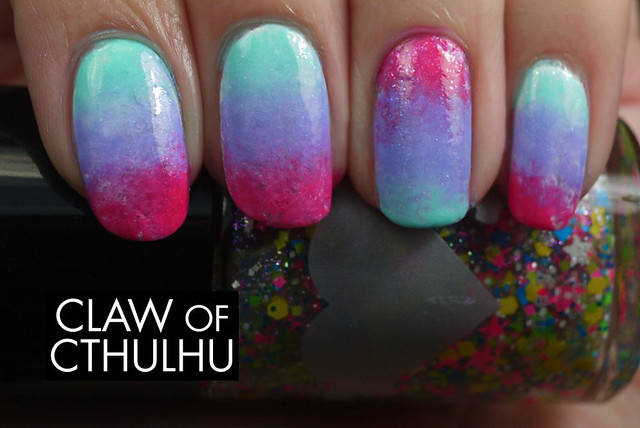 Rainbow Honey Summer of 199X Gradient Nail Art