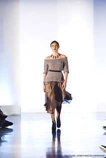 Eco Fashion Week Day 3 Evan Ducharme Fashion Collection Belladonna - skirt, sweater and necklace