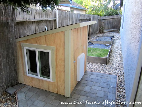 Custom dog house for our pampered pooch