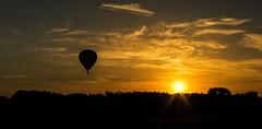 Balloon sunset