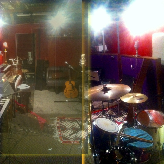 Earthquake Party! practices here -- (bad collage of images shot by Ian Doerr)