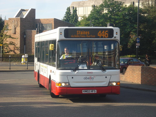 Abellio Surrey 8443 on Route 446, Staines