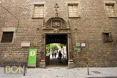 o muro do Hospital de la Santa Creu