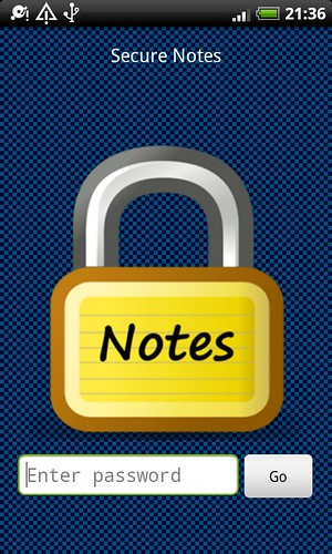 Secure Notes Screenshot