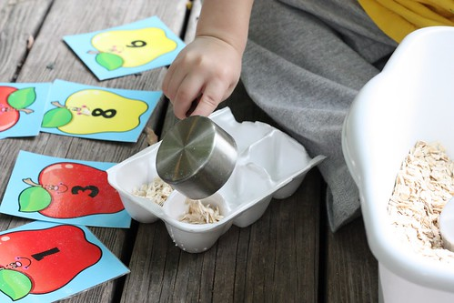 Apple Theme Sensory Bin (Photo from I Can Teach My Child)
