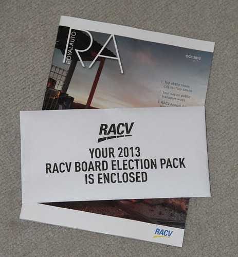 My RACV Board Election papers have arrived!