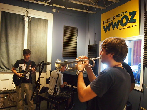 NOCCA comes to WWOZ for Cuttin' Class!  Eddie Leiva on guitar, Eliot Guerin on piano, and John Michael Bradford on trumpet.