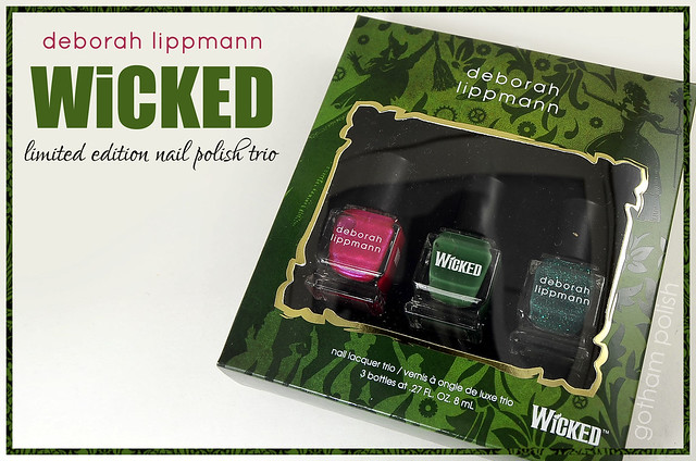 Deborah Lippmann Wicked nail polish trio