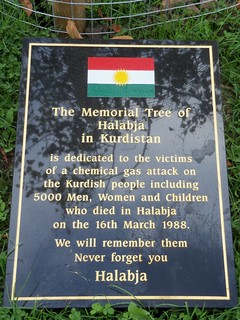 Kurdistan trees plaque, Albert Park