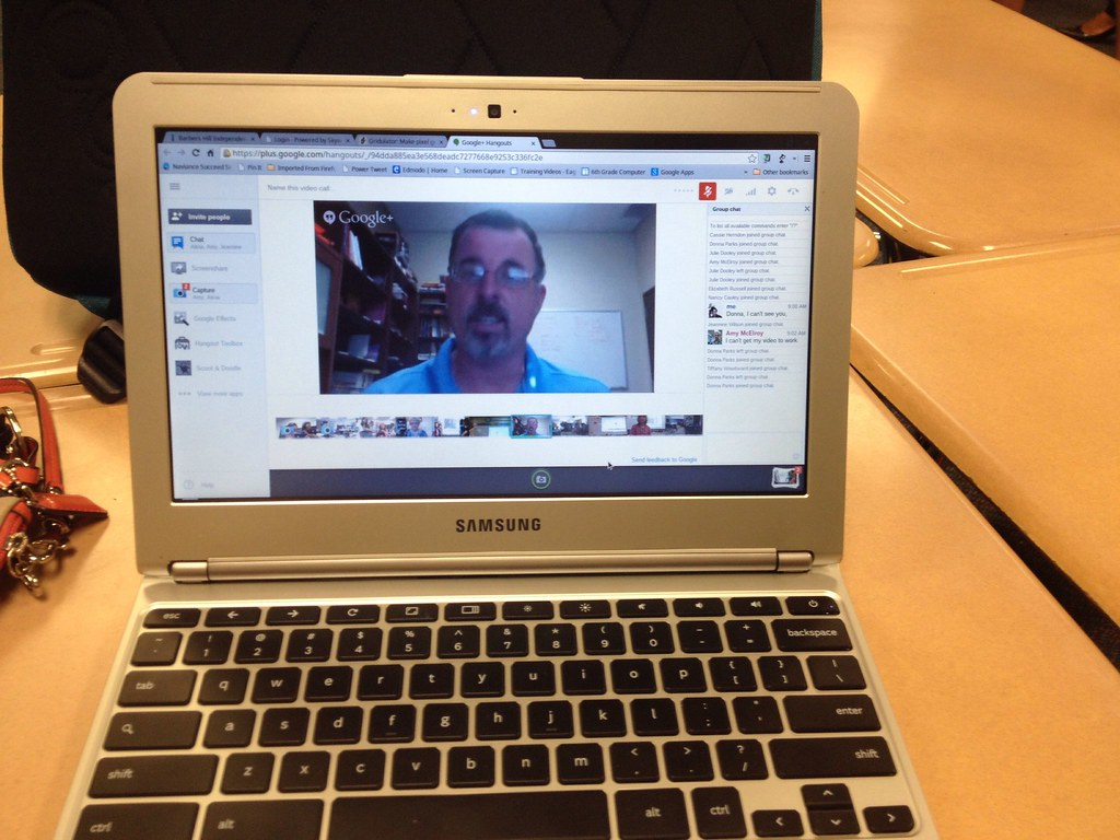 Google Hangout with 5th graders