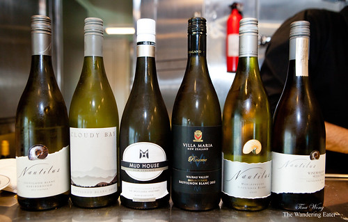 Wines tasted at Sauvignon Blanc seminar