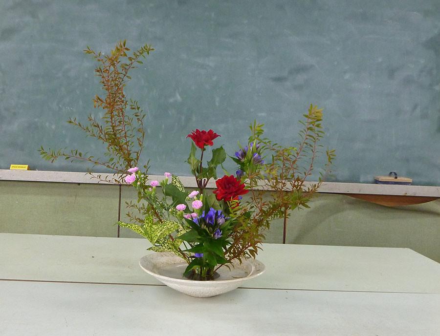 【盛花】ユキヤナギ、リンドウ、ダリア【2013_10_05】