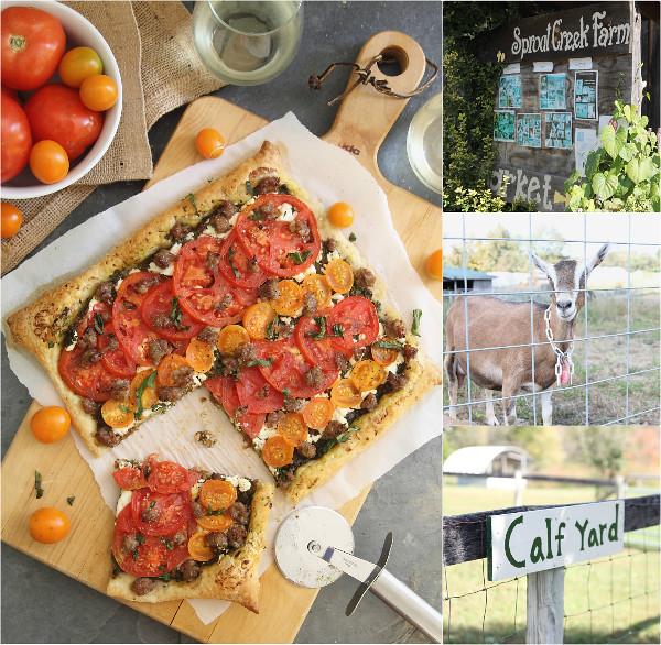 Tomato Goat Cheese Sausage Tart | runningtothekitchen.com