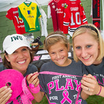 13-091 -- Women's soccer Pink Zone raffle tickets were sold by Mindy McCluskey, 9-year-old Molly McCluskey and Jen Watson.
