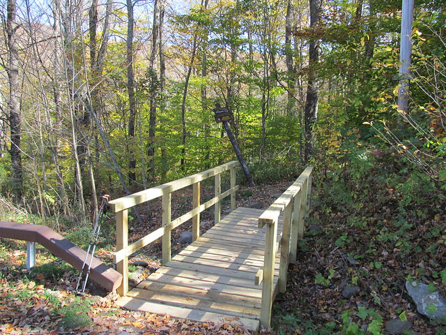 The bridge at the Giant Ledge trailhead