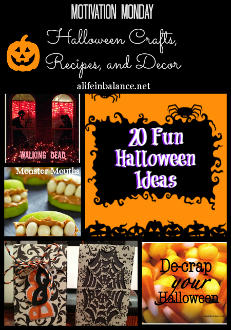 Motivation Monday: Halloween Crafts, Recipes, and Decor