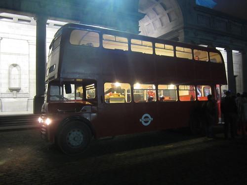 Annif Rodolphe dans le bus londonien