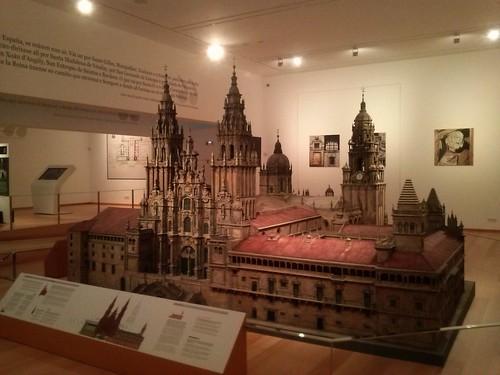 Maqueta da Catedral de Santiago. Museo das peregrinacións