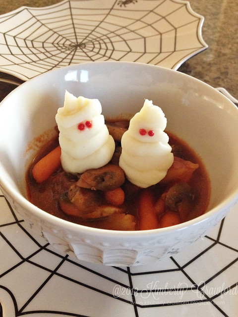 ghost mashed potatoes in beef stew