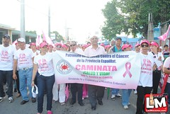 Caminata contra el cáncer en Moca