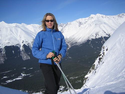 Gina Johnson Skiing