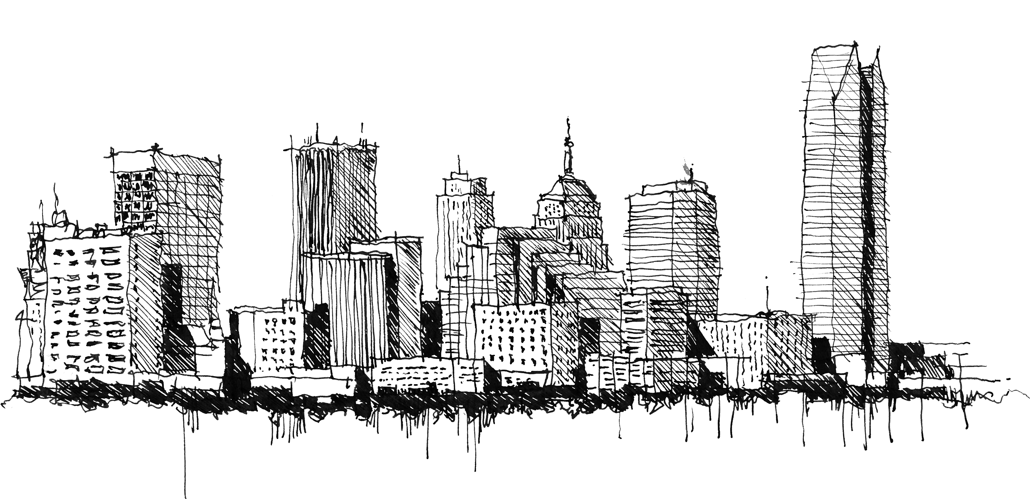 city skyline sketches - photo #23