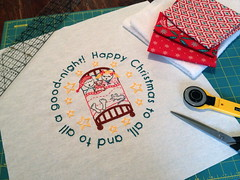 Night Before Christmas Embroidered Holiday Pillow - Tutorial!