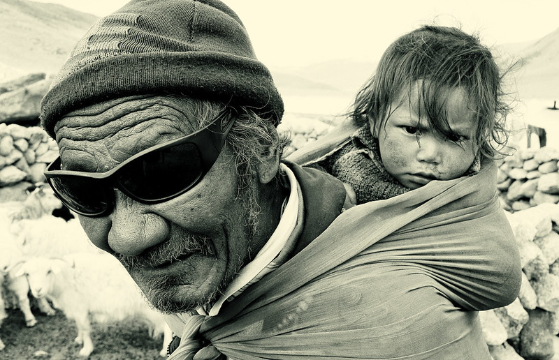 Nomad people in Changtang, Ladakh