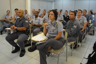 Policiais militares de diversas regiões do Estado participaram de curso sobre enfrentamento ao tráfico de pessoas
